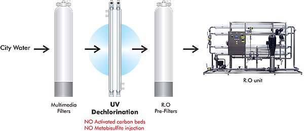 Ozone generator for water